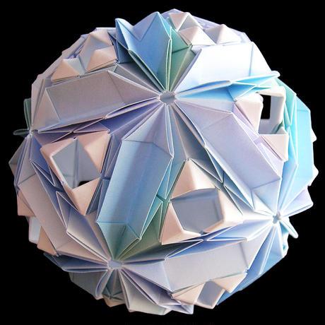 折り紙で作るくす玉の折り図「スターリーナイト」