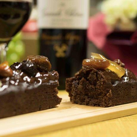 《クール便送料無料》赤ワイン チョコレートケーキ ギフト スイーツ ボルドー 「シャトー・リスル・フォール」 2009 東京 LES CACAOS ケーキ(OG15-109CCF)