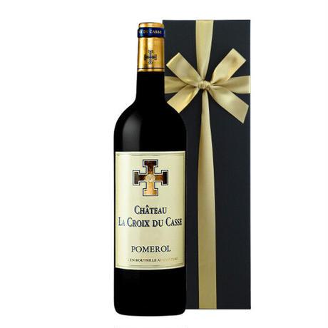【ワインギフト】フランス ボルドー 赤ワイン「シャトー・ラ・クロワ・デュ・カス」2015 750ml ワインギフト おしゃれ(11BCCPO15C-w)