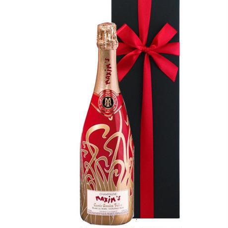 シャンパンギフト フランス シャンパン ブラン・ド・ノワール マキシム・ド・パリ 「キュヴェ・アンネ・フォール」 ピノ・ノワール 100% 750ml NV ラッピング付 熨斗可能