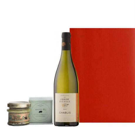 プレゼントにおすすめ!ワインとおつまみセット ブルゴーニュの白ワイン コルシカ島の豚肉のテリーヌ ビオ100% お酒 ワイン 食べ物 おつまみ 詰め合わせ 男性 誕生日