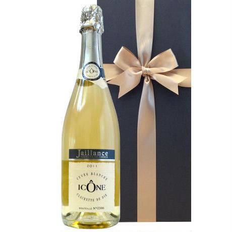 フランス スパークリングワイン「イコン・キュヴェ・ブランシュ」2014年 コート・デュローヌ、AOCクレレット・ド・ディ、ジャイアンス、750ml