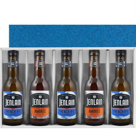 《お中元・夏ギフト》【ビールギフト】フランスのクラフトビール 330ml × 5本 飲み比べ ジャンラン フレンチIPA ×3本 アンバー ×2本 海外ビール 輸入ビール(OG96-201318)