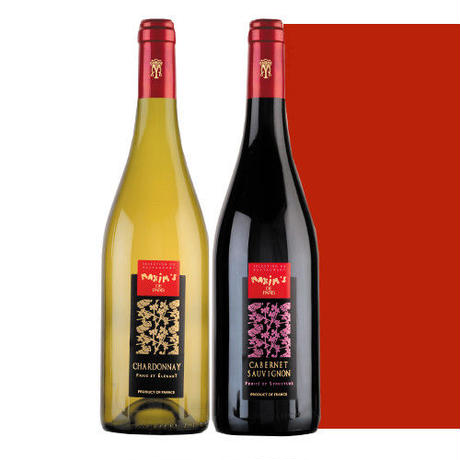 フランスワイン紅白セット マキシム・ド・パリ 赤ワイン カベルネ・ソーヴィニヨン 白ワイン シャルドネ 750ml×2本 飲み比べ ギフト箱入り 高級ブランド ラッピング付 熨斗可能