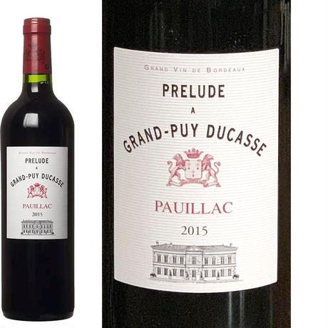 《父の日》【ワインギフト】フランス ボルドー産の赤ワイン「プレリュード・ア・グラン・ピュイ・デュカス」2015年 750ml(11BGDPA5C0-w)