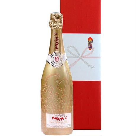 フランス シャンパン マキシム・ド・パリ ブラン・ド・ブラン 「キュヴェ・ゴールド」 シャルドネ 100% 750ml NV ラッピング付 熨斗可能