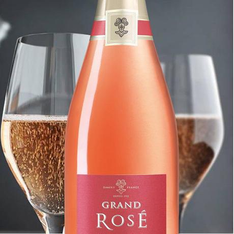 《結婚記念日》【シャンパンギフト】ロゼシャンパン フランス ジャック・ド・テルモン「グラン・ロゼ・ブリュット」辛口 750ml シャルドネ ピノ・ノワール