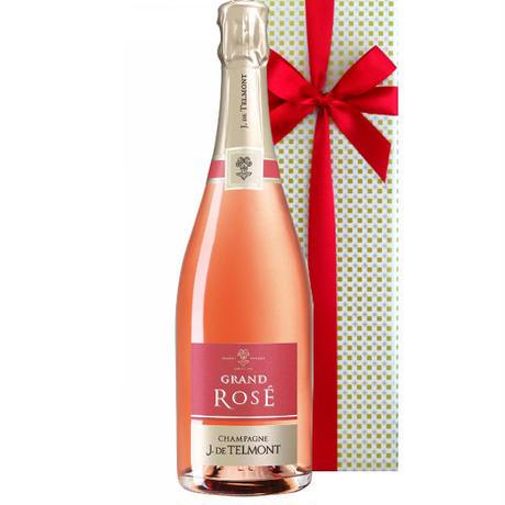 《女子会ワイン》ロゼシャンパンフランス ジャック・ド・テルモン グラン・ロゼ・ブリュット 辛口 1500ml シャルドネ ピノ・ノワール(61CTERMNVE)