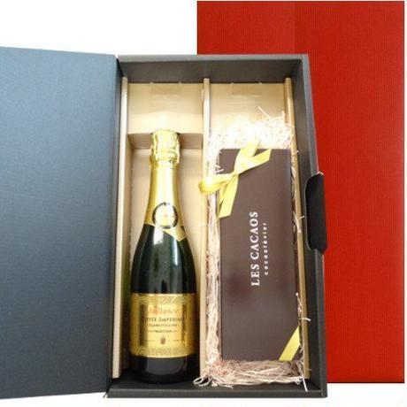 ワインとスイーツのギフト フランス産 スパークリングワイン  東京 LES CACAOS 5種類の焼菓子 ギフトセット  誕生日 プレゼント お祝い ラッピング付 熨斗可能