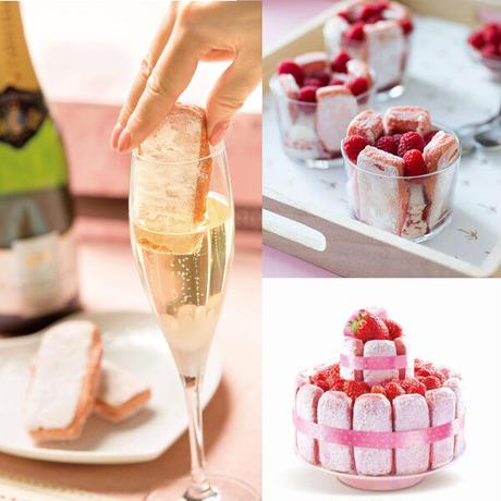 《記念日》【シャンパンとスイーツのギフト】フランス「グラン・ロゼ・ブリュット」辛口 750mlと「シャンパンサブレ」誕生日 結婚祝い プレゼント 贈り物 お祝い お礼 内祝い