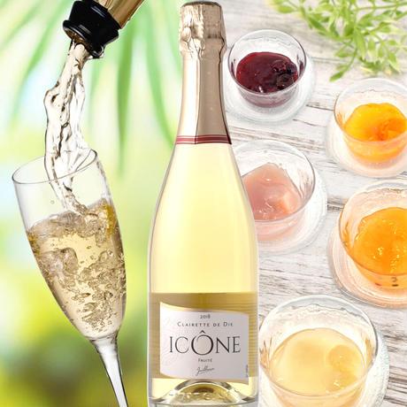 《期間限定》送料無料【ワインとスイーツのギフト】フランスのスパークリングワイン「キュヴェ・イコン・ブランシェ」と「LES CACAOS(レ・カカオ)」のゼリー×5個(OG15-FJICJ5 )