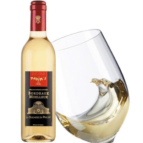 《敬老の日》【ワインとスイーツのギフト】フランス・ボルドーの白ワイン『マキシム・ド・パリ』「ラ・デュッシェス・デュ・プリウレ」375ml&「レモンタルトクッキー」(OG15-MDPPAL)
