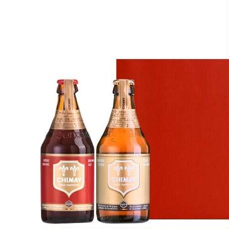 ◆送料無料◆《敬老の日》【ビールギフト】ベルギービール 赤 ゴールド  ベルギー産 クラフトビール「シメイ・レッド」「シメイ ゴールド」330ml×2本