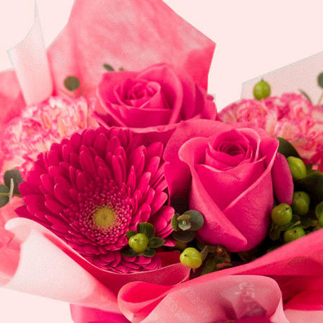 誕生日 結婚祝い お花 ギフト スパークリング フランス 750ml やや甘口  キュヴェ・エクセレンス 生花 フラワーアレンジメント ピンク バラ カーネーション ガーベラ(OG35-269M15)