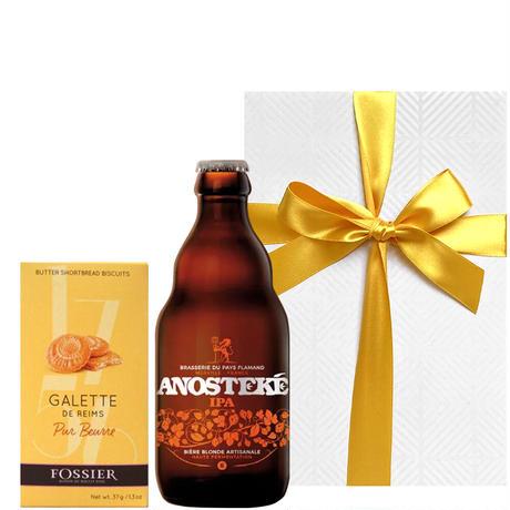 《お中元・夏ギフト》【ビールとスイーツのギフト】北フランスのクラフトビール「ブラッスリー・デュ・ペイ・フラマン」と「メゾン・フォシエ」ガレット(OG16-FAIFGB)