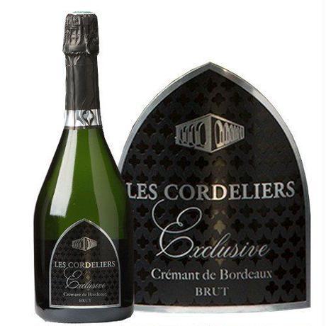《自宅用》【スパークリングワイン】 「レ・コードリエ・エクスクルーシヴ・ブリュット」辛口 750ml フランス 「クレマン・ド・ボルドー」シャンパン製法  カベルネ・フラン(51BJACBNC0)