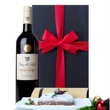 クリスマスプレゼント クリスマス ワインとスイーツ 南フランス 赤ワイン ラングドック 辛口 シュトーレン ケーキ スイーツ 贈り物
