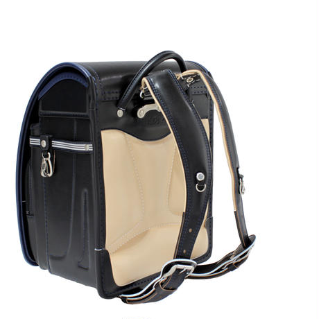 プルミエ(牛革ボルサ) 11109  キッズアミ (ブラック ・ネイビー ・ブラック×ネイビーブルー /ブルーステッチ) 全3色