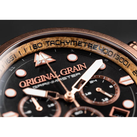 The Grainmaster Chronograph - Whiskey Espresso