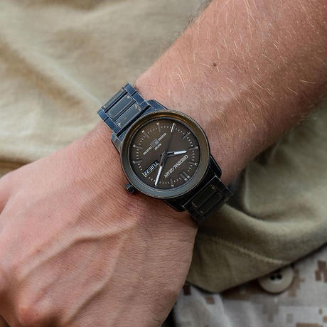The Barrel 2.0 42mm - Military Stonewashed Steel