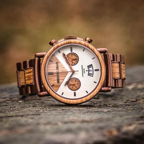 The Alterra Chronograph - WHISKEY (Whiskey/Espresso)