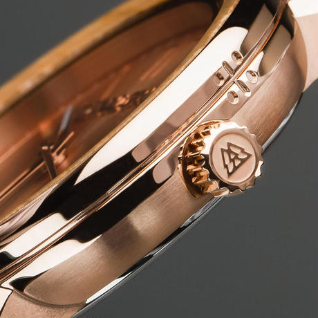 The Barrel 2.0 36mm - Whiskey RoseGold Leather
