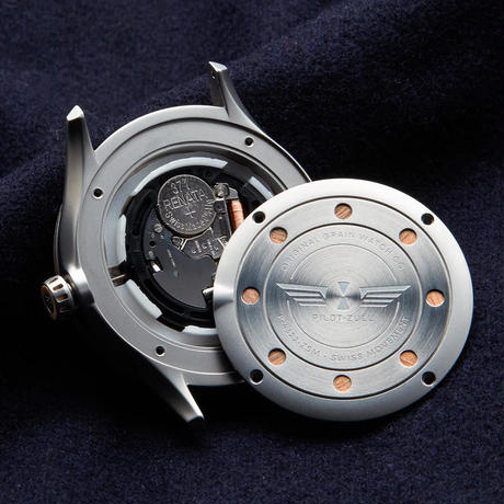 The Pilot-Zulu 43mm - Maple Silver