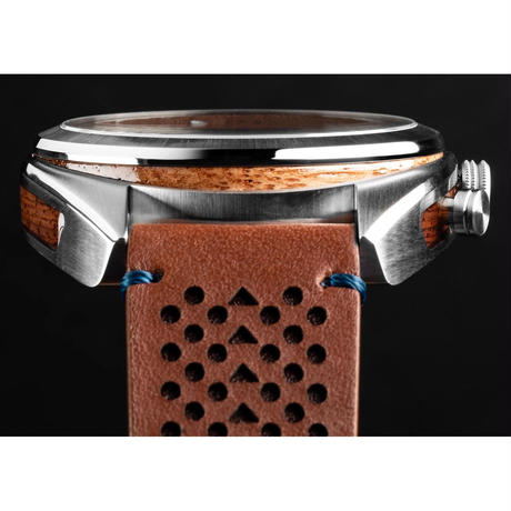 The Grainmaster Chronograph 45mm - Mahogany Silver
