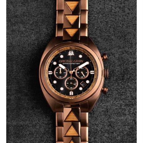 The Grainmaster Chronograph 45mm - Whiskey Espresso