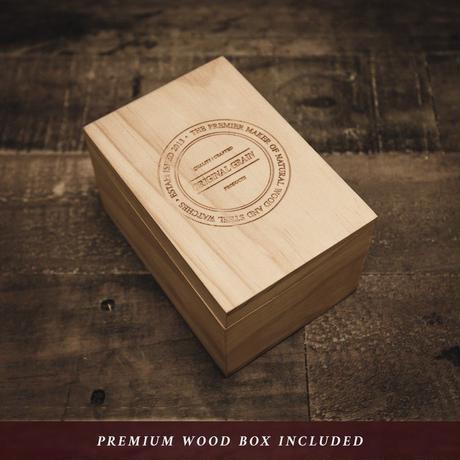The Barrel 2.0 46mm - Whiskey Espresso/24HR WOOD SUBDIAL
