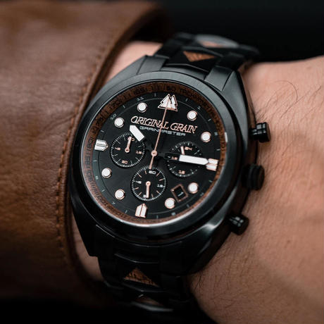 The Grainmaster Chronograph 45mm - Sapele Black