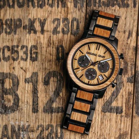 Barrel Chronograph 42mm - Whiskey Black