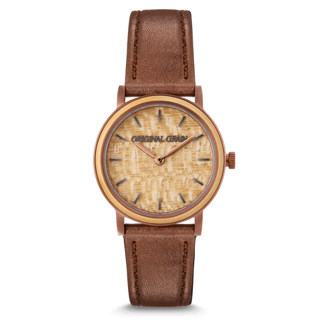 The Avalon 34mm - CAMILLE (Burl/Espresso)