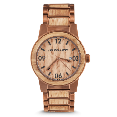 The Barrel 42mm - Whiskey/Espresso/Barrel/Wood Dial