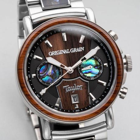 Alterra Chronograph 44mm - ORIGINAL GRAIN × TAYLOR GUITARS (Cameroon Ebony/Stainless Steel)