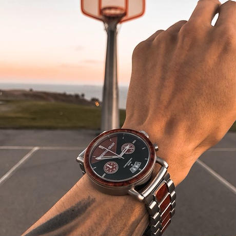 The Alterra Chronograph 44mm - REDLINE (Rosewood/Silver)