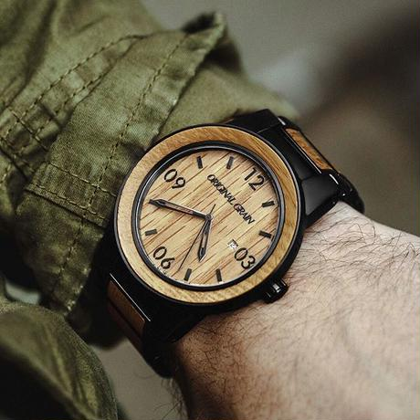 The Barrel 47mm - Whiskey/Black/Barrel/Wood Dial