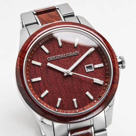 Classic 43mm - Rosewood Chrome Silver