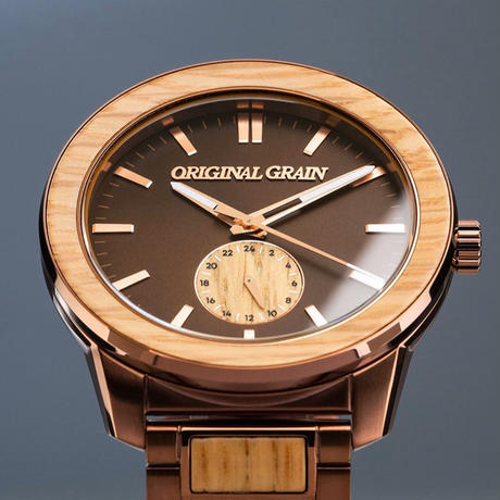 The Barrel 2.0 46mm - Whiskey Espresso/24HR WOOD SUBDIAL