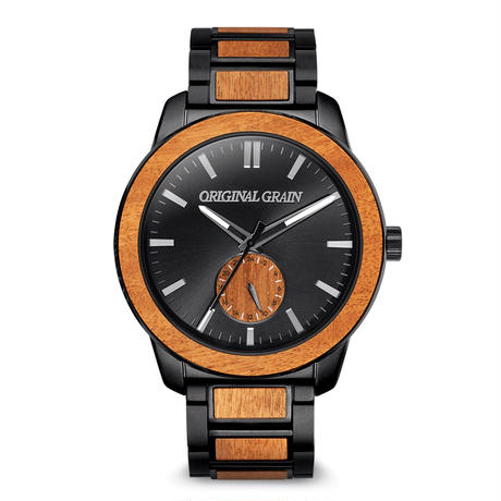 The Barrel 2.0 46mm -  Mesquite Grillmaster/24HR WOOD SUBDIAL