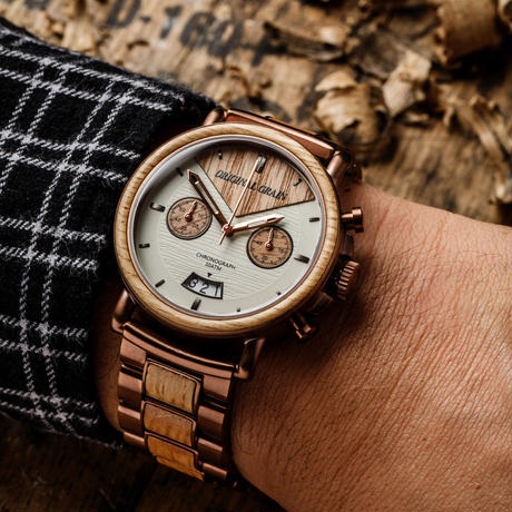 The Alterra Chronograph 44mm - WHISKEY (Whiskey/Espresso)
