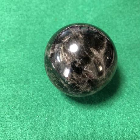 ③蛇霊・狐霊の呪詛と封印を解くアート専用の黒水晶(丸型2個組45mm×45mm)