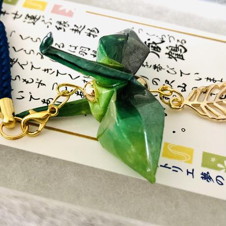 折り鶴ギフト 木漏れ日 緑 葉っぱ 箱入り