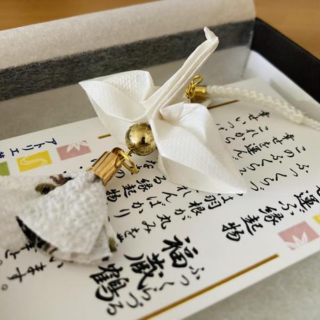 折り鶴ギフト 白 メタリックホワイト 箱入り