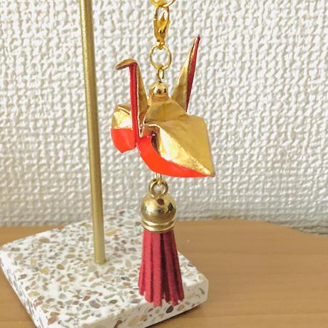 折り鶴ギフト 金と赤 ゴールド&レッド 箱入り