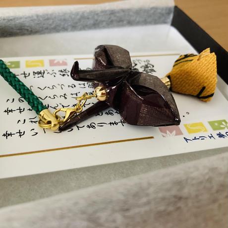 折り鶴ギフト 茶 メタリックブラウン 箱入り