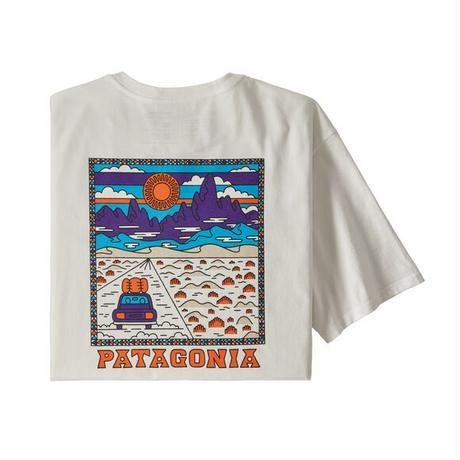 <patagonia>メンズ・サミットロード・オーガニック・Tシャツ/WHT