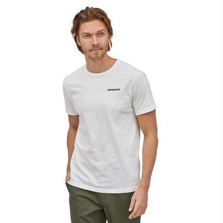 <patagonia>メンズ・P-6ロゴ・オーガニック・Tシャツ/WHT