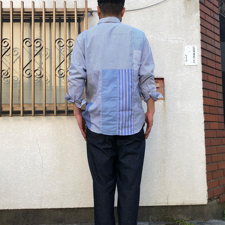 "sliderstoreオリジナル ""remake patchwork shirt""①"