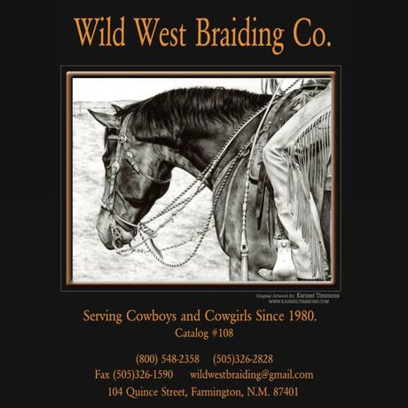 """Wild West Braiding co.  """"Nylon Parachte Cord Belt"""""""